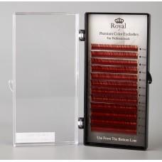 Extensii gene Royal Silk Mix C015 Maron roscat - 12 rânduri
